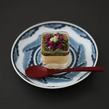 冷製茶碗蒸し ジュンサイ、花穂、わさび醤油