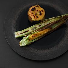 茄子田楽 五三竹とヤングコーン麹焼き