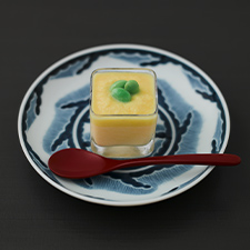 冷製茶碗蒸し とうもろこしのピュレ 枝豆