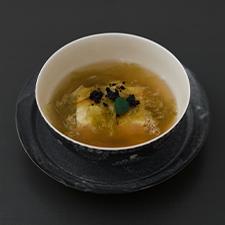 Vegan menu 豆腐とおぼろ昆布 柚子