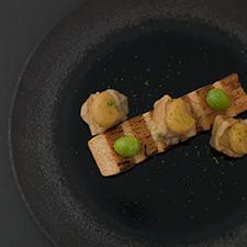 Vegan menu 粟麩の田楽 長芋のみそ漬け 銀杏