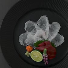 クエうす造り  ポン酢 浅葱   マグロ漬け 花穂