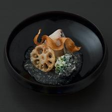 寒鰆  葱  ブロッコリー  蓮根  ゴボウ  塩麹餡