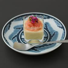 冷製茶碗蒸し  甘海老麹漬け  花穂