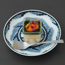 冷製茶碗蒸し  雲丹  青海苔餡  花穂