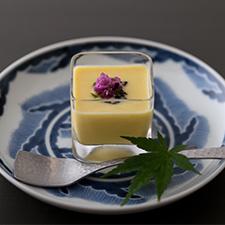 Vegan Menu  豆腐ととうもろこしのポタージュ  白味噌仕立て  豆豉