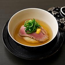 【お碗】百合根饅頭 鴨ロースト九条葱 和辛子