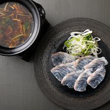 【強肴】石川県産天然クエのしゃぶしゃぶ 赤味噌の上澄み出汁