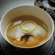 【お碗】鯒潮仕立て 羽衣冬瓜 一輪柚
