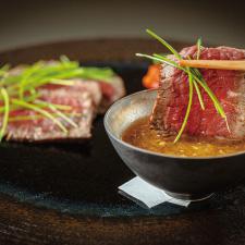 【強肴】増田牛腿肉たたき 味噌ちり酢 万願寺焼き浸し
